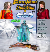 Electrawoman and Dynagirl comic special crossover