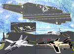 Variable fighters VF1 in carrier robotech macross by Gustvoc