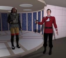 captain kirk and klingon star trek