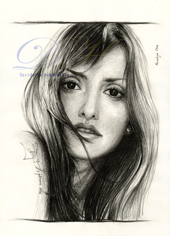 Penelope Cruz drawing by dasidaria-art