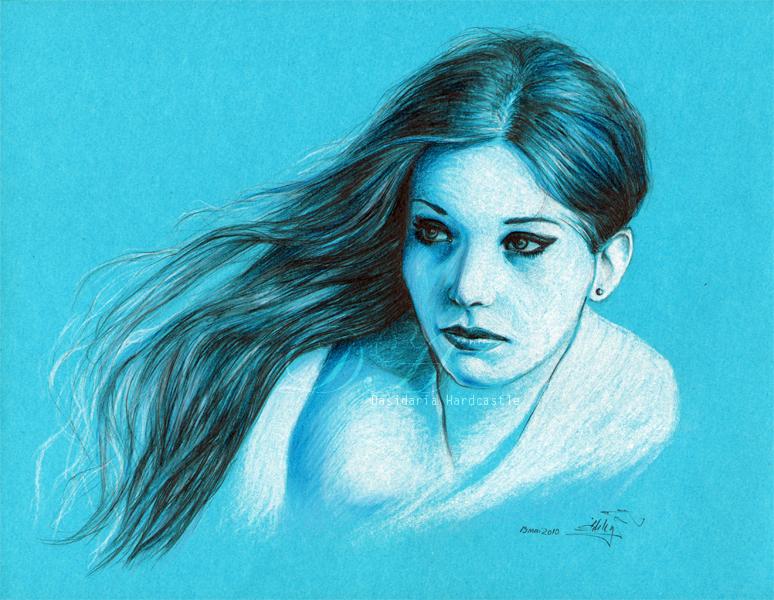 Alb-albastru by dasidaria-art