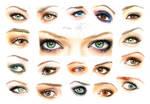 Eyes and makeup