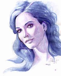 Blue hair by dasidaria-art