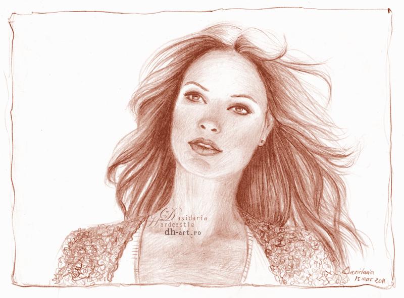 Female sketch by dasidaria-art
