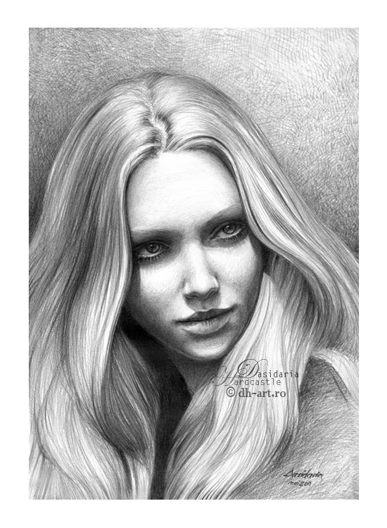 Amanda Seyfried drawing ii by dasidaria-art
