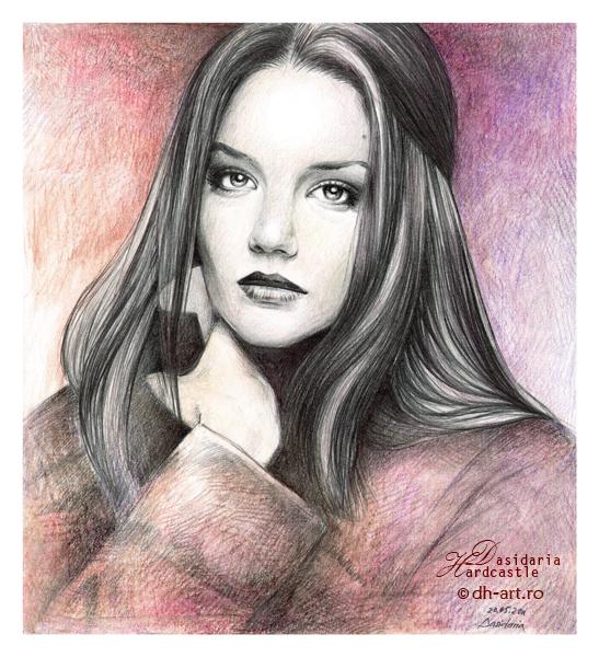 Katie Holmes drawing by dasidaria-art