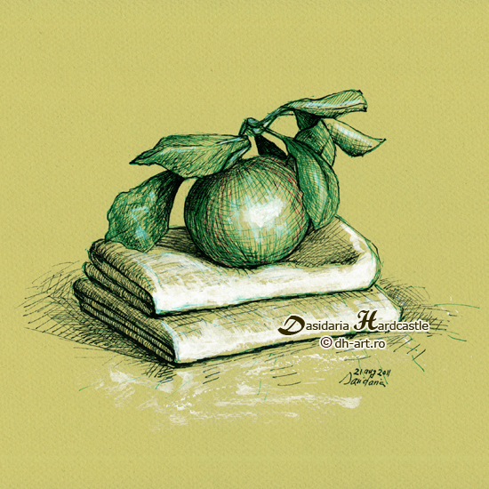Green apple by dasidaria-art