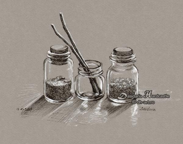 Small jars by dasidaria-art