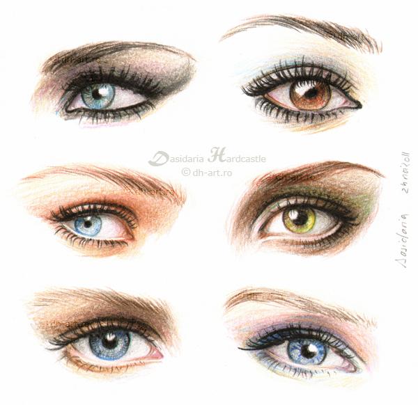 Eyes and make-up ii by dasidaria-art