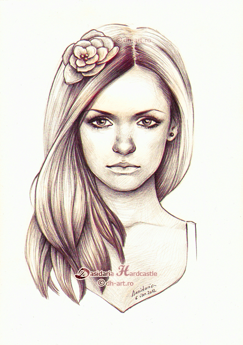 Girl with flower by dasidaria-art
