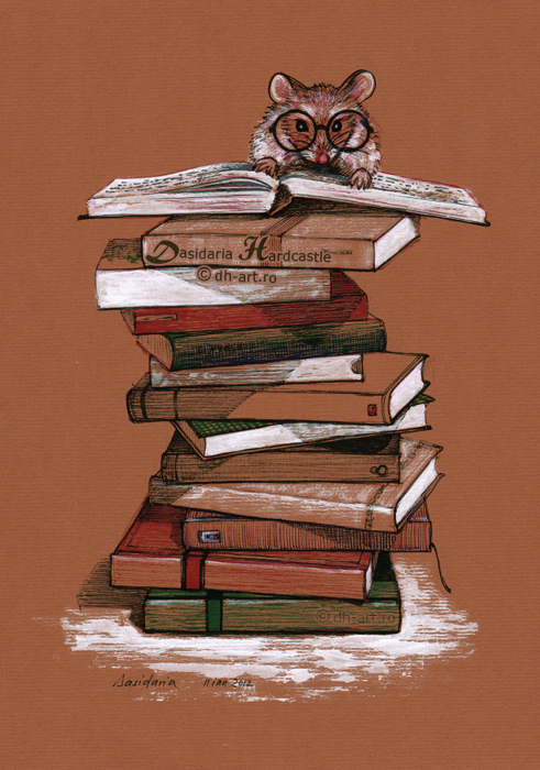 The library mouse by dh6art