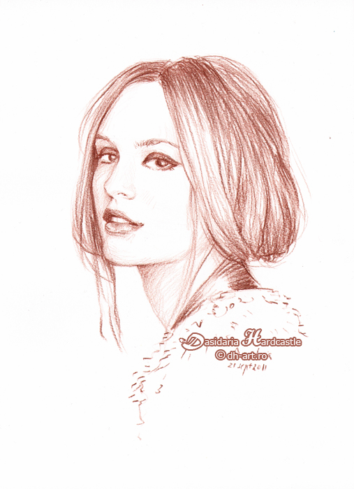 Leighton Meester sketch by dasidaria-art