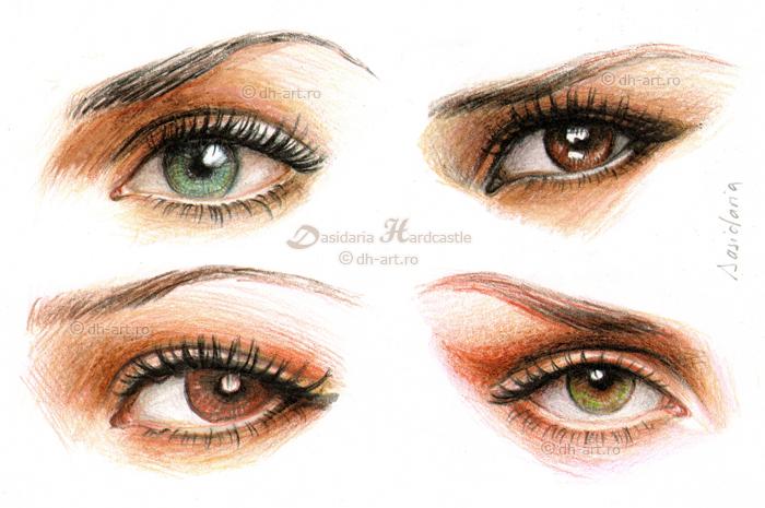 Eyes and make-up iii by dasidaria-art