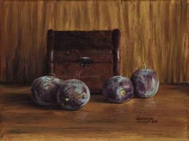 Four plums by dasidaria-art