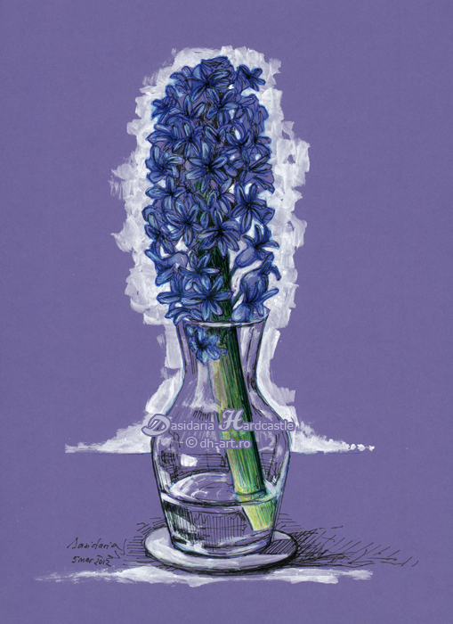 Purple hyacinth by dh6art