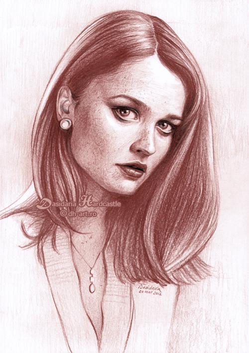 Robin Tunney drawing by dasidaria-art