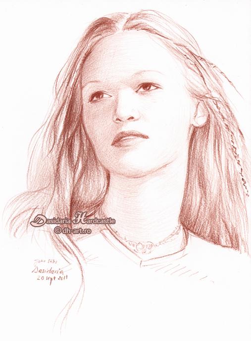 Julia Stiles sketch by dh6art