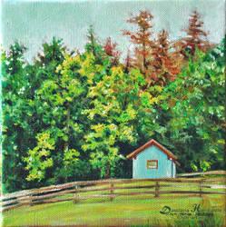 Blue cottage by dasidaria-art