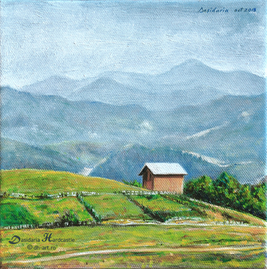 Cottage on the hill by dasidaria-art