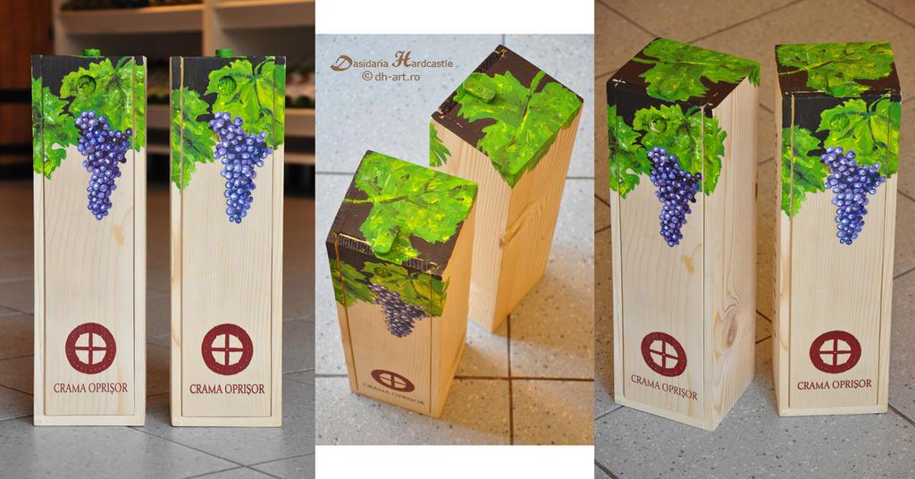 Painted wine box i by dasidaria-art