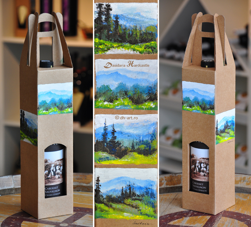 Painted wine box ii by dasidaria-art