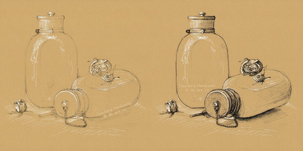 War bottles - wip by dasidaria-art