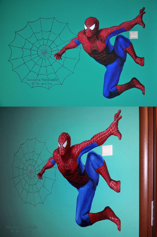 Mural . Spiderman by dasidaria-art