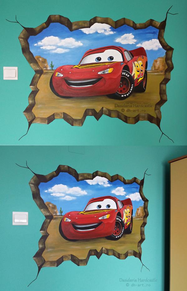 Mural . Red car by dasidaria-art
