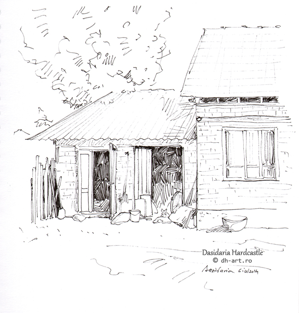 Sketchbook - The shed by dasidaria-art