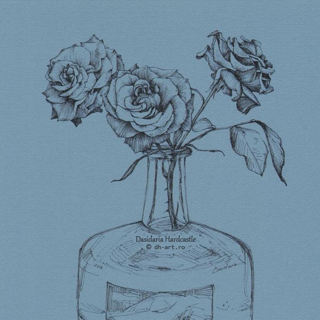 Roses.Blue by dasidaria-art