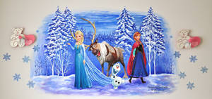 Mural . Frozen by dasidaria-art