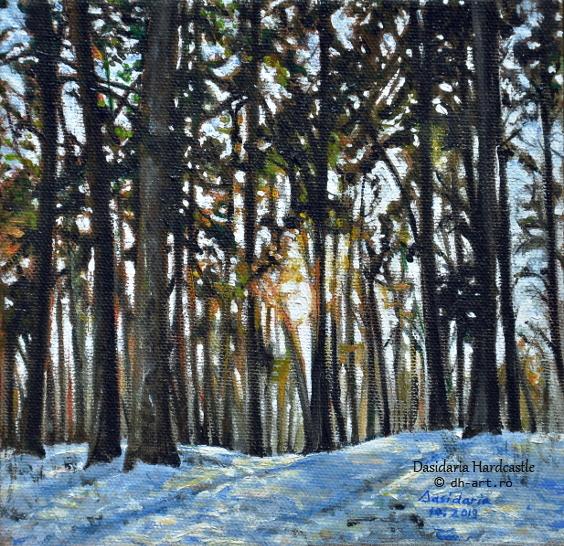 Winter forest by dasidaria-art