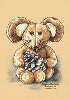 Mouse with a fir cone by dasidaria-art