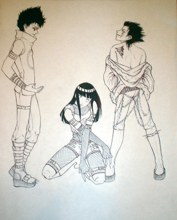 Naruto: Shino,Kiba,Hinata by Allen13 on DeviantArt