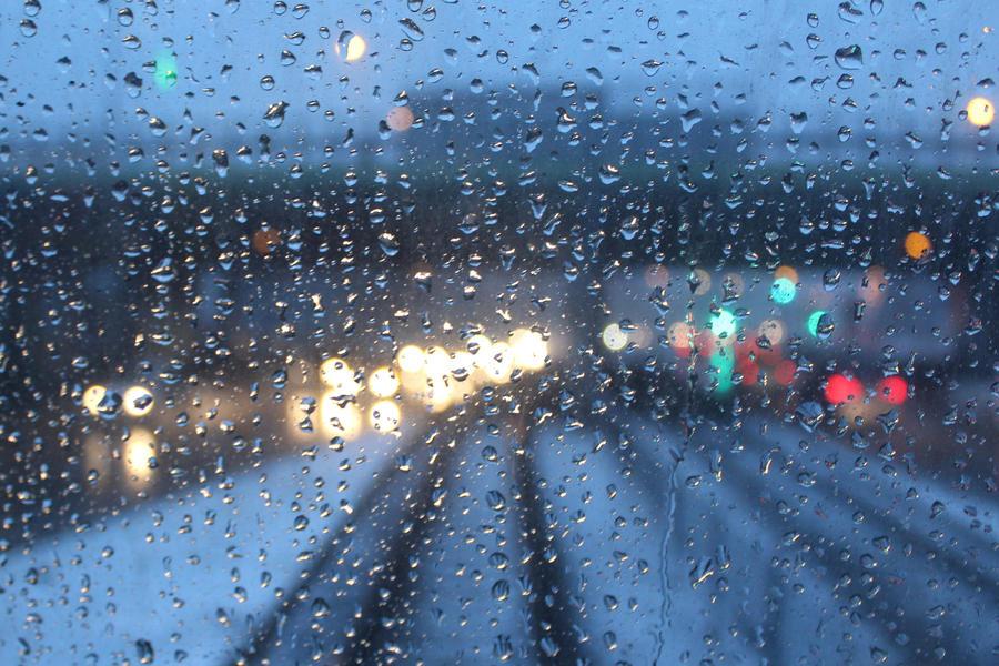 Rain drops by Prestydygitator