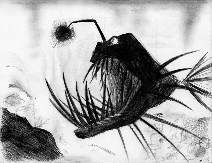 Angler Fish Drawing