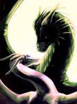 Dragon lover - gift by Kagyrra-Zr