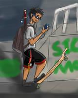 Harry Skatebord by KillerMakaChop