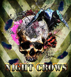Night Crows Ship Pinup Art