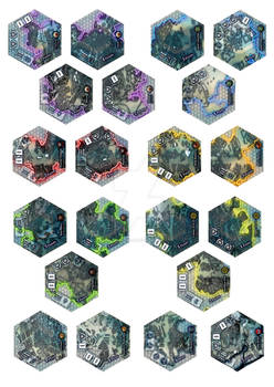 Frontier Wars Card game tile concept