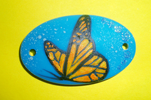Plastic pendant - Butterfly 01 by th3blackhalo
