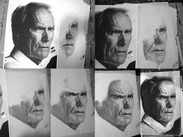 Clint Eastwood WIP by th3blackhalo
