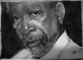 Morgan Freeman by th3blackhalo