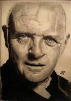 Antony Hopkins portrait by th3blackhalo