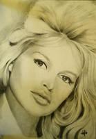 Brigitte Bardot portrait by th3blackhalo