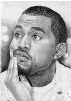 Kanye West portrait by th3blackhalo