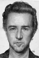 Edward Norton Portrait by th3blackhalo