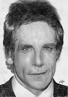 Ben Stiller Portrait by th3blackhalo