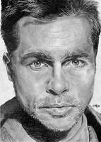 Brad Pitt portrait by th3blackhalo