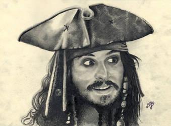 Johnny Depp portrait HQ by th3blackhalo